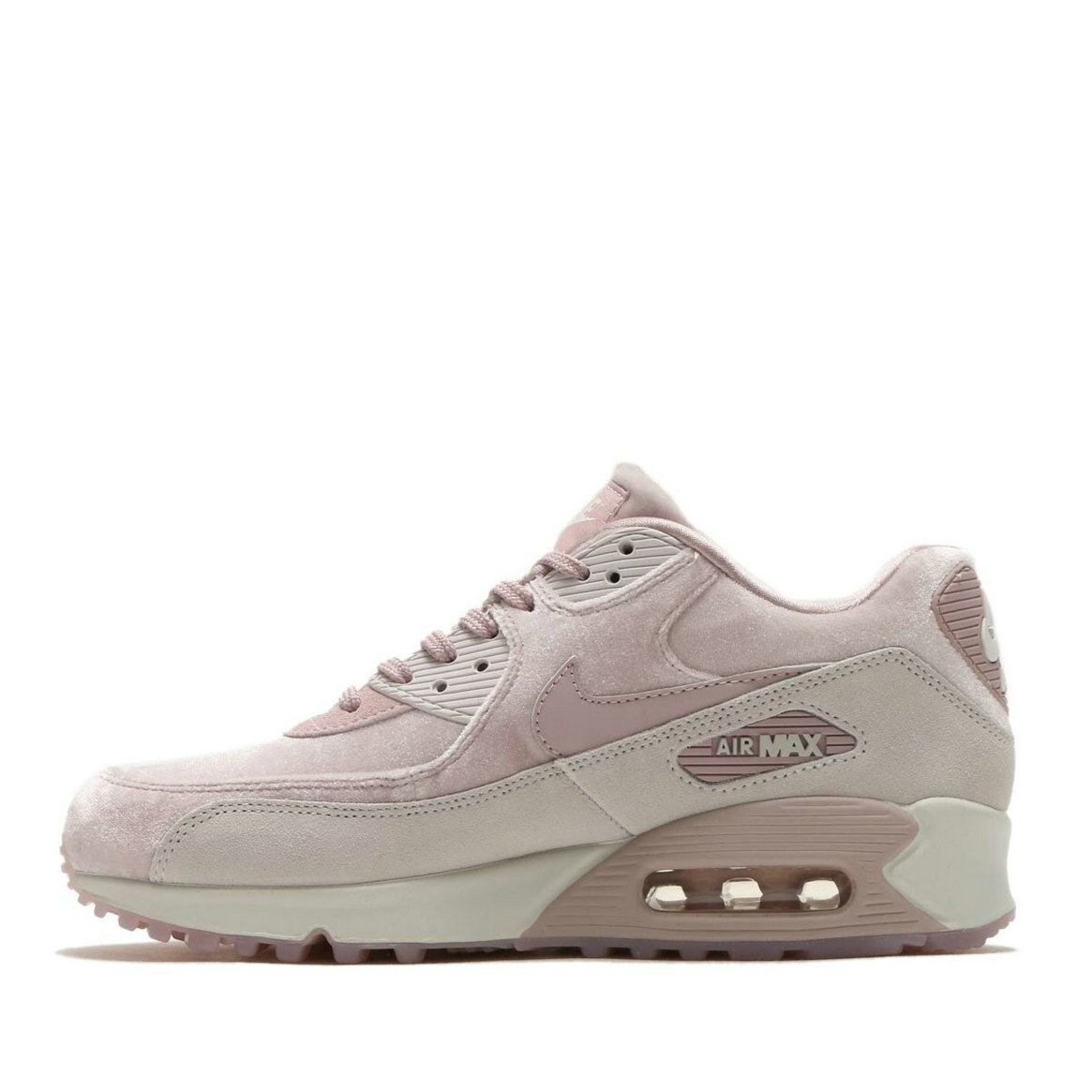 2020 Womens Wholesale Cheap Nike Air Max 90 Lx Particle Rose Particle Rose-Vast Grey 898512-600