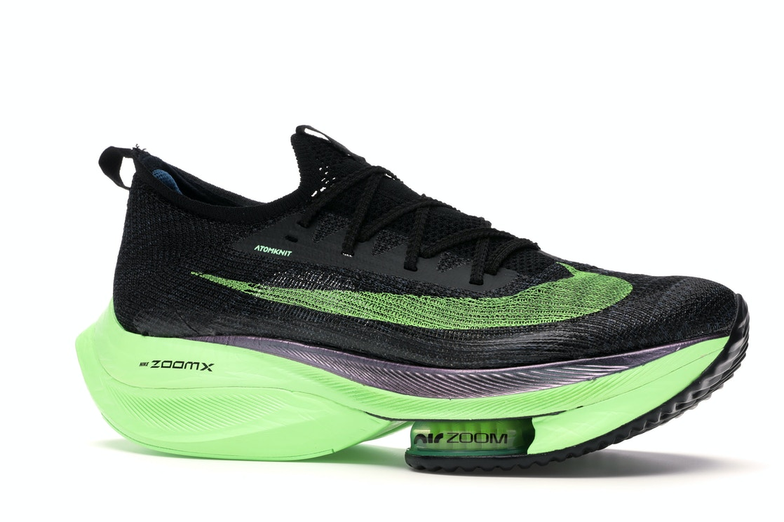 2020 Womens Wholesale Cheap Nike Air Zoom Alphafly Next Black Electric Green CI9925-400