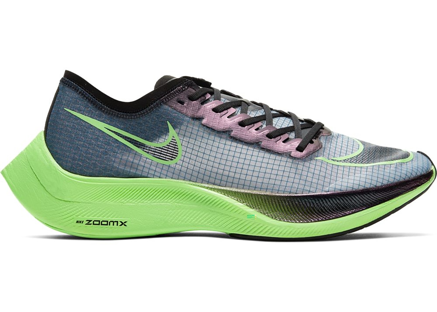 2020 Womens Wholesale Cheap Nike ZoomX VaporFly Next Valerian Blue Black-Vapour Green AO4568-400