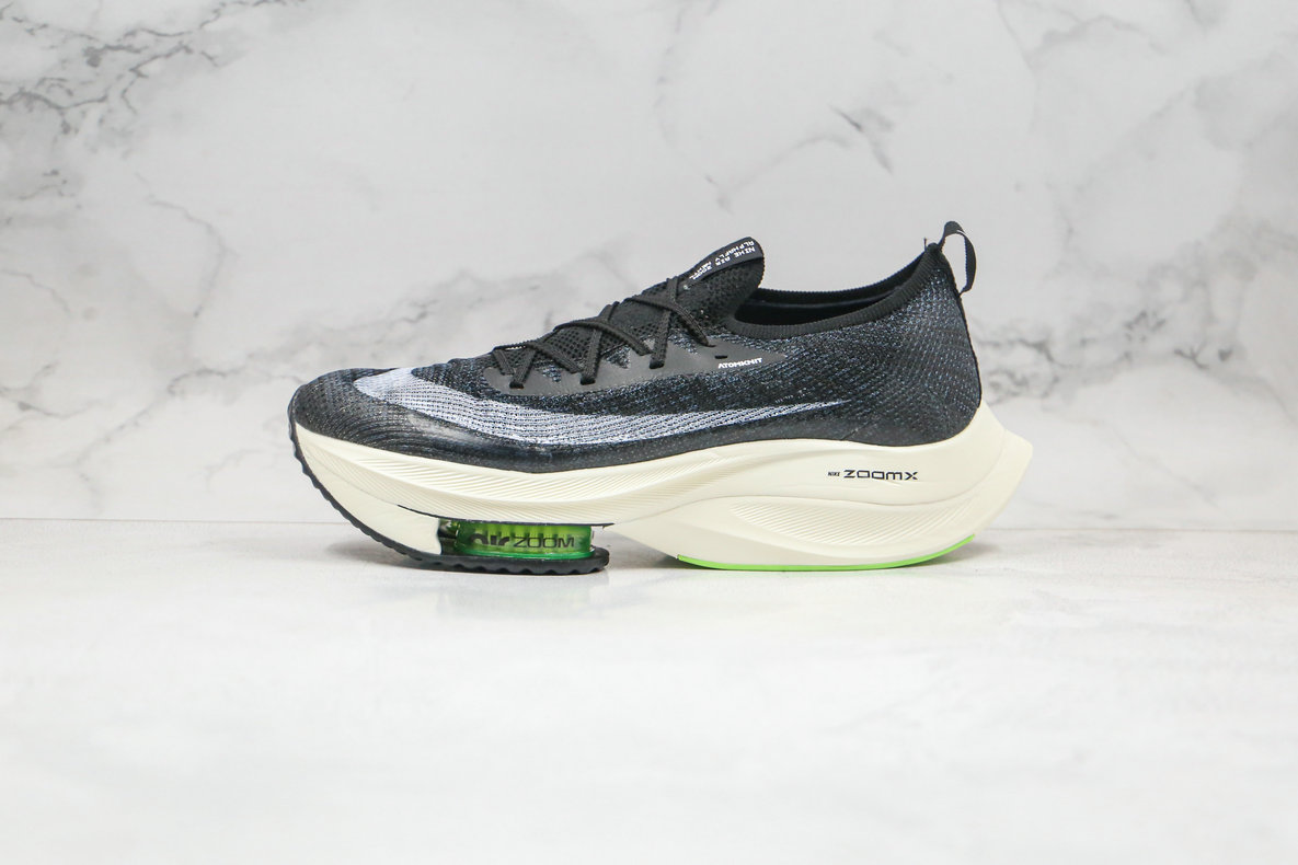 2020 Womens Cheapest Nike Air Zoom Alphafly NEXT Black White CI9925-018