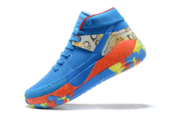 2021 Cheap Wholesale NIKE KD 13 BLUE RED-YELLOW SHOES FOR MEN