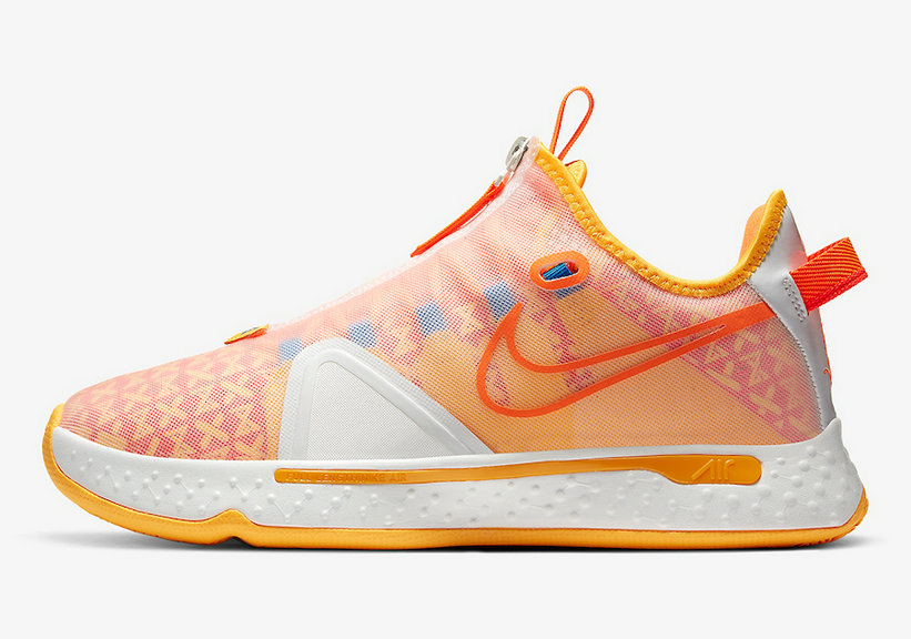 2021 Cheap Wholesale Gatorade x Nike PG 4 Orange GX CD5078-101