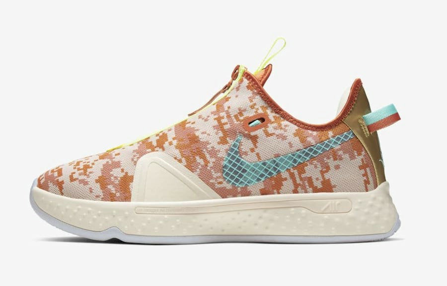 2021 Cheap Wholesale NBA 2K x Nike PG 4 Digi-Camo GE
