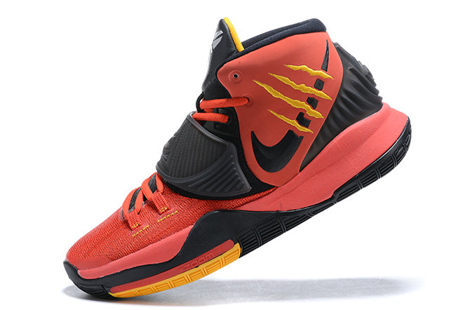 2021 Cheap Wholesale New Cj1290-600 2020 MenS Nike Kyrie 6 Bruce Lee Black Red For Sale