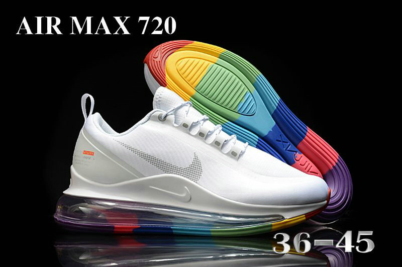2021 Cheap Wholesale Nike Air Max 720 Be True White Colorful