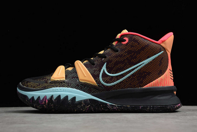 2021 Cheap Wholesale Nike Kyrie 7 Pre Heat Ep Black Yellow Red Online DC0588-002
