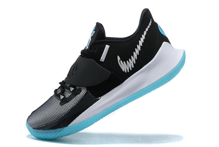 2021 Cheap Wholesale Nike Kyrie Low 3 Black White-Icy Blue Outlet Sale CJ1286-001