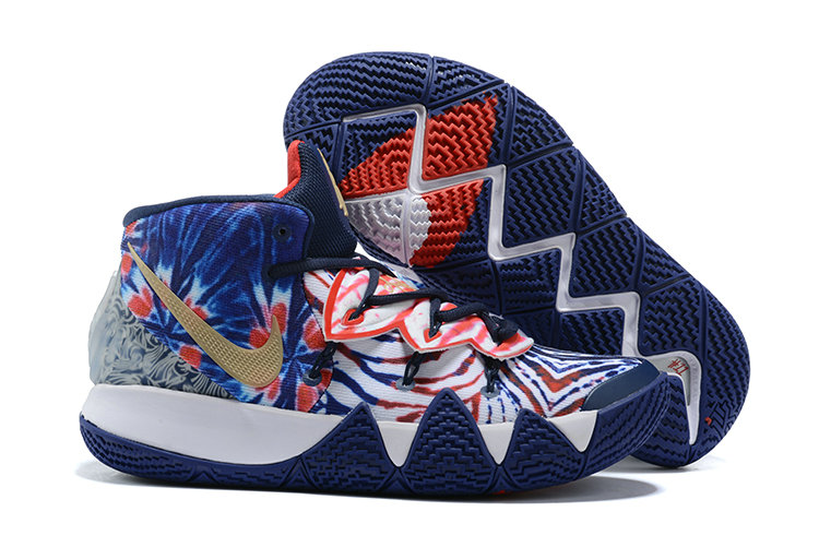 2021 Cheap Wholesale Nike Kyrie S2 Hybrid Royal Blue Red Gold White