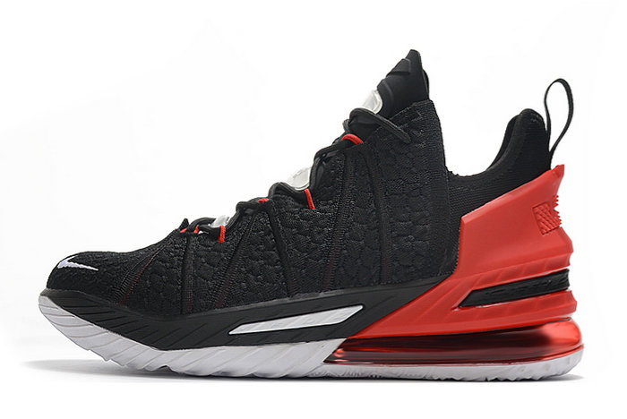 2021 Cheap Wholesale Nike Lebron 18 Black Varsity Red-White