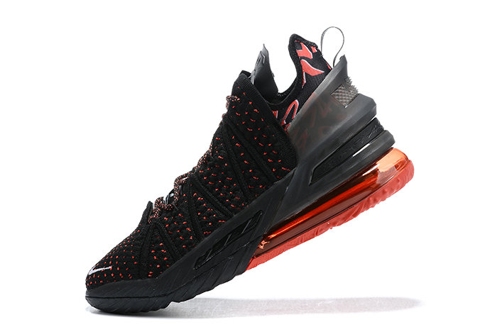 2021 Cheap Wholesale Nike Lebron 18 Bred Black Red-White Outlet