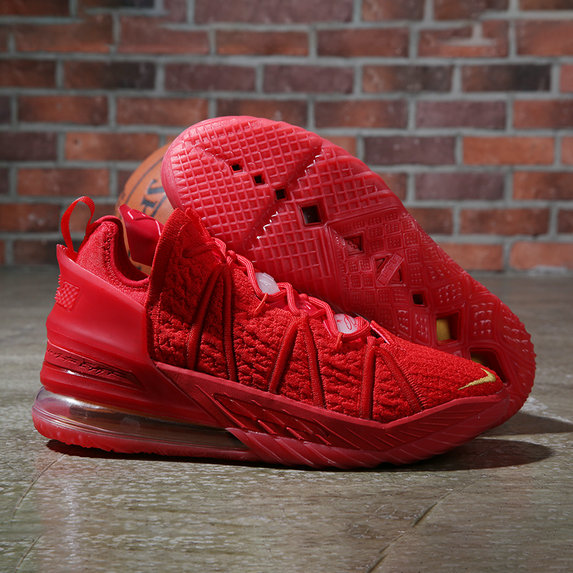 2021 Cheap Wholesale Nike Lebron James 18 Sport Red Gold