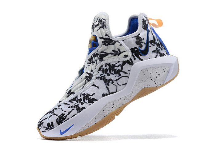 2021 Cheap Wholesale Nike Lebron Soldier 14 White Black-Royal Blue