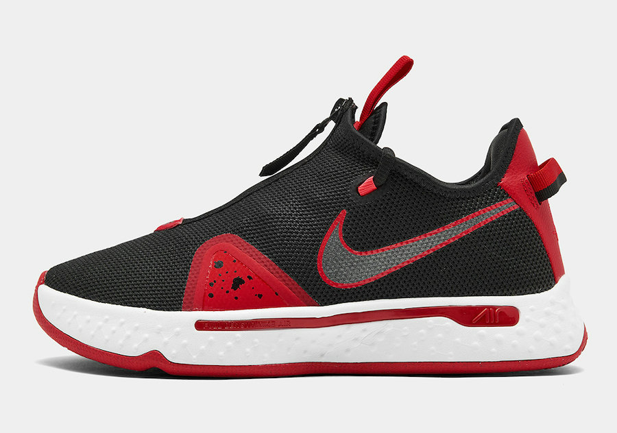 2021 Cheap Wholesale Nike PG 4 Bred Black University Red-White CD5079-003