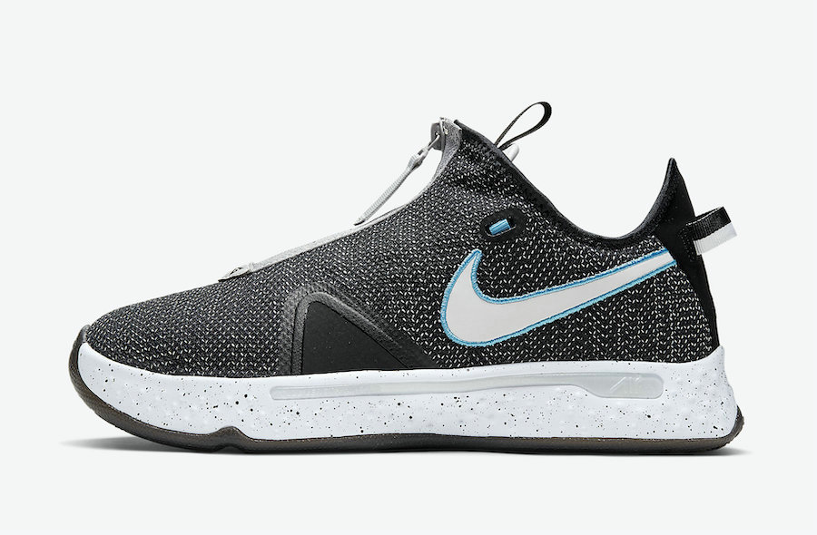 2021 Cheap Wholesale Nike PG 4 Heather Black Blue CD5082-004