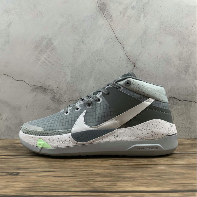 2021 Cheap Wholesale Nike Zoom KD 13 EP Wolf Grey White-Silver CK6017-001