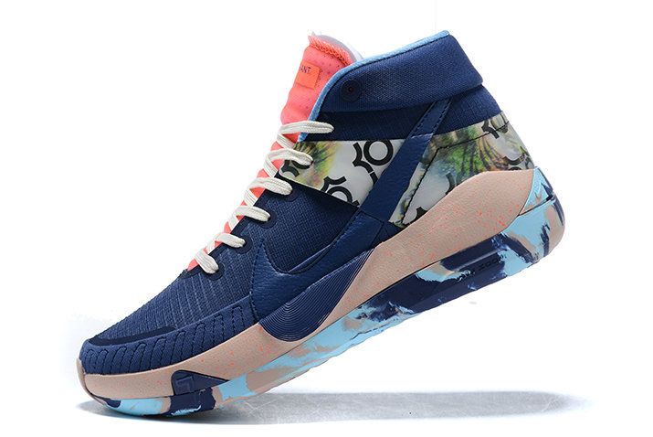 2021 HOT SELL MENS NIKE KD 13 MIDNIGHT NAVY PINK-BLUE SNEAKERS ON SALE
