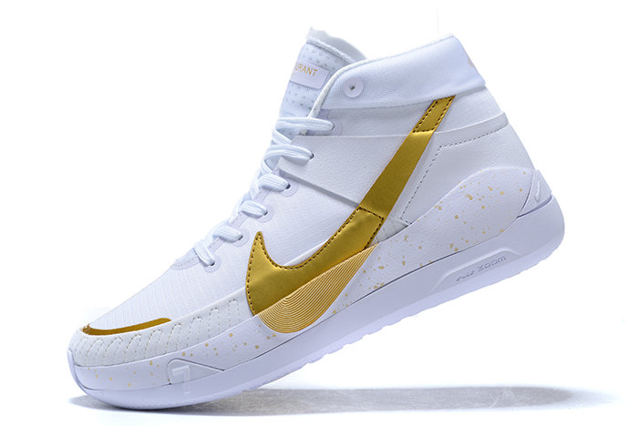 2021 HOT SELL MENS NIKE KD 13 WHITE METALLIC GOLD SNEAKERS ON SALE
