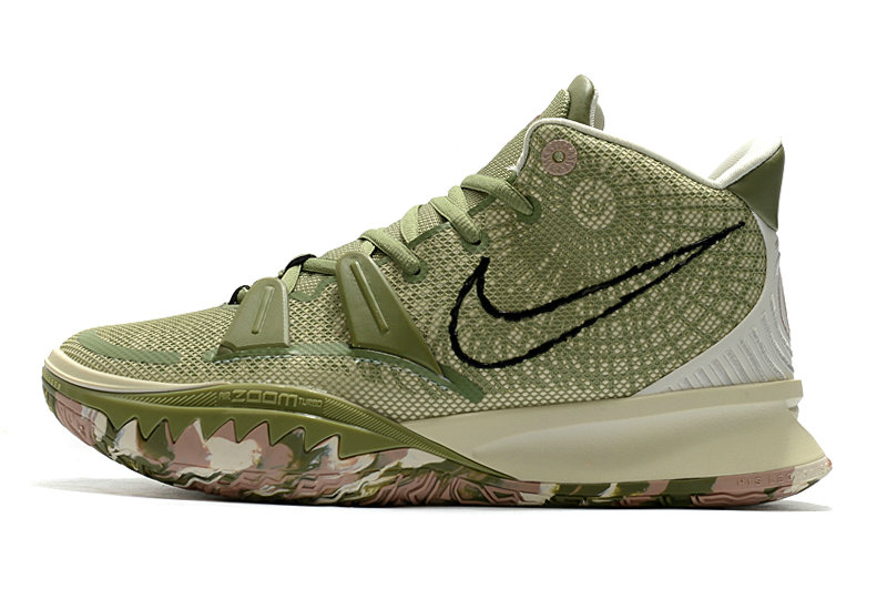 2021 Kids Cheap Wholesale Nike Kyrie Irving 7 Green Rose Pink
