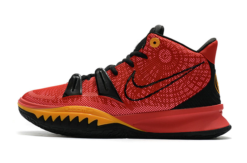 2021 Kids Cheap Wholesale Nike Kyrie Irving 7 Red Black Gold