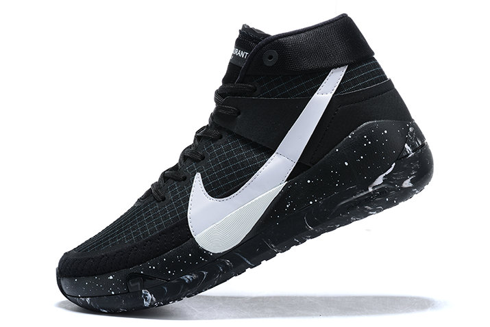 2021 LATEST NIKE KD 13 BHM BLACK WHITE SHOES FOR MEN