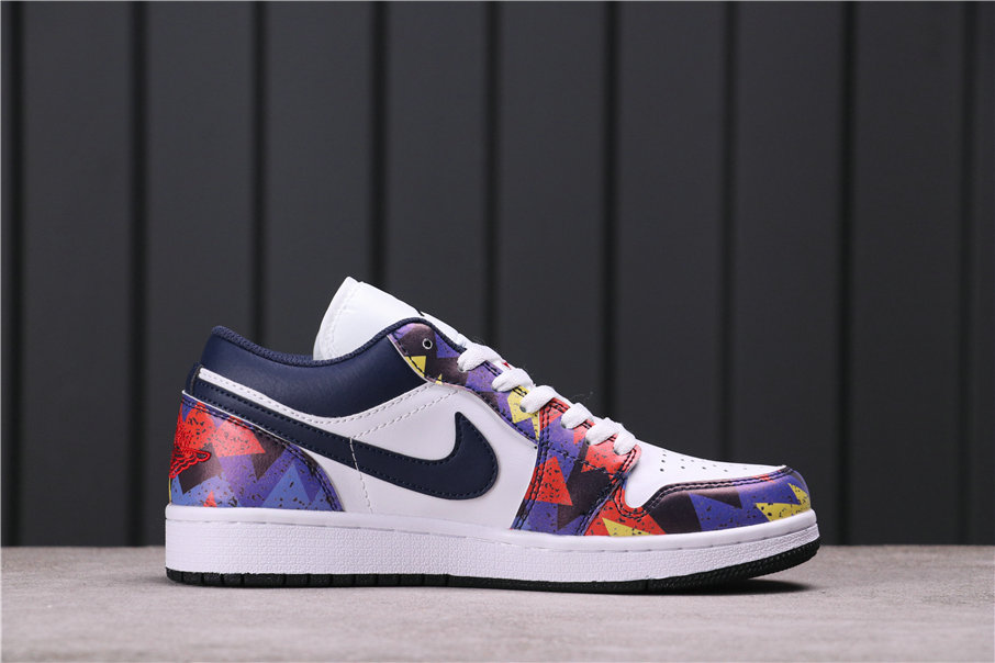 2021 Where To Buy Cheap Air Jordan 1 Low Nothing But Net White Dark Obsidian-Team Red CZ8659-100