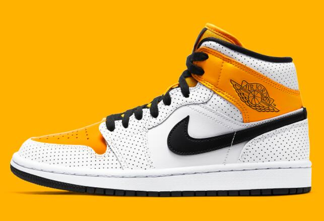 2021 Where To Buy Cheap Wholesale Nike AIR JORDAN 1 MID SE WHITE LASER ORANE-BLACK BQ6472-107