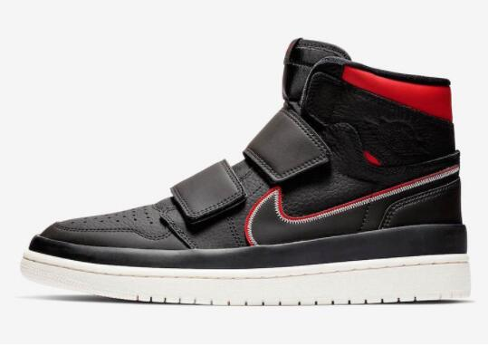 2021 Where To Buy Cheap Wholesale Nike Air Jordan 1 High Double Strap Black Red AQ7924-016
