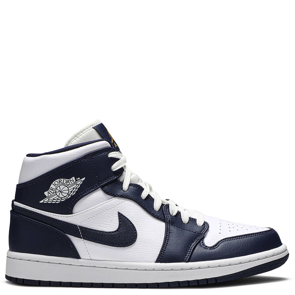 2021 Where To Buy Cheap Wholesale Nike Air Jordan 1 Mid White Metallic Gold Obsidian 554724-174