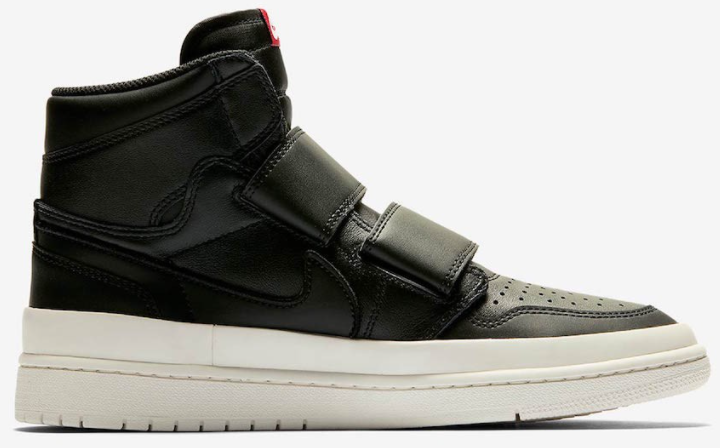 2021 Where To Buy Cheap Wholesale Nike Air Jordan 1 Re Hi Double Strp Black Noir AQ7924-001