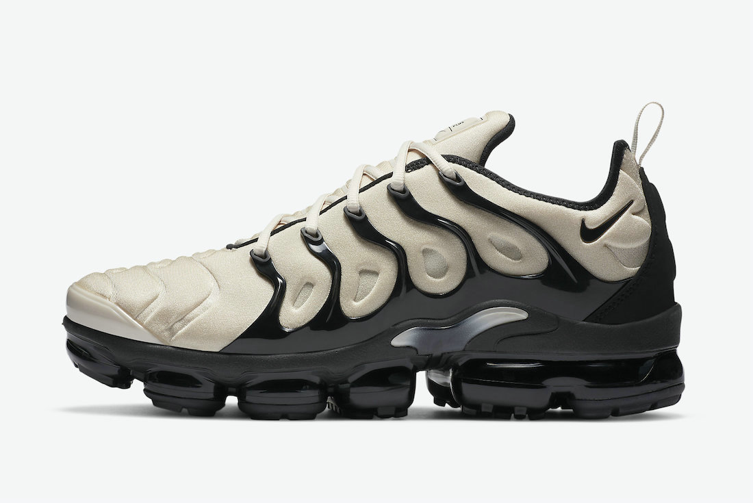 2021 Where To Buy Cheap Wholesale Nike Air VaporMax Plus Surfaces in Light Bone and Black DH0860-100