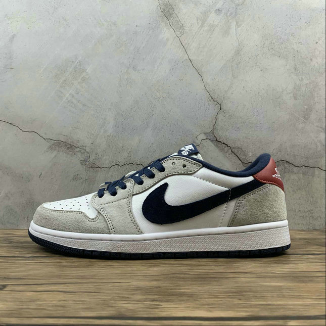 2021 Where To Buy Cheap Wholesale Womens Nike Air Jordan 1 Low OG SP-T White Sail Blue Red Blanc Rouge CQ4277-002