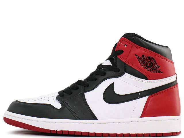 2021 Where To Buy Cheap Wholesale Womens Nike Air Jordan 1 Retro High OG Black Toe White Black-Varsity Red 555088-125
