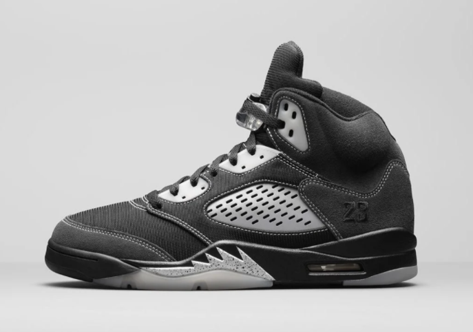 2021 Where To Buy Cheap Wholesale Womens Nike Air Jordan 5 Anthracite Wolf Grey-Clear-Black DB0731-001