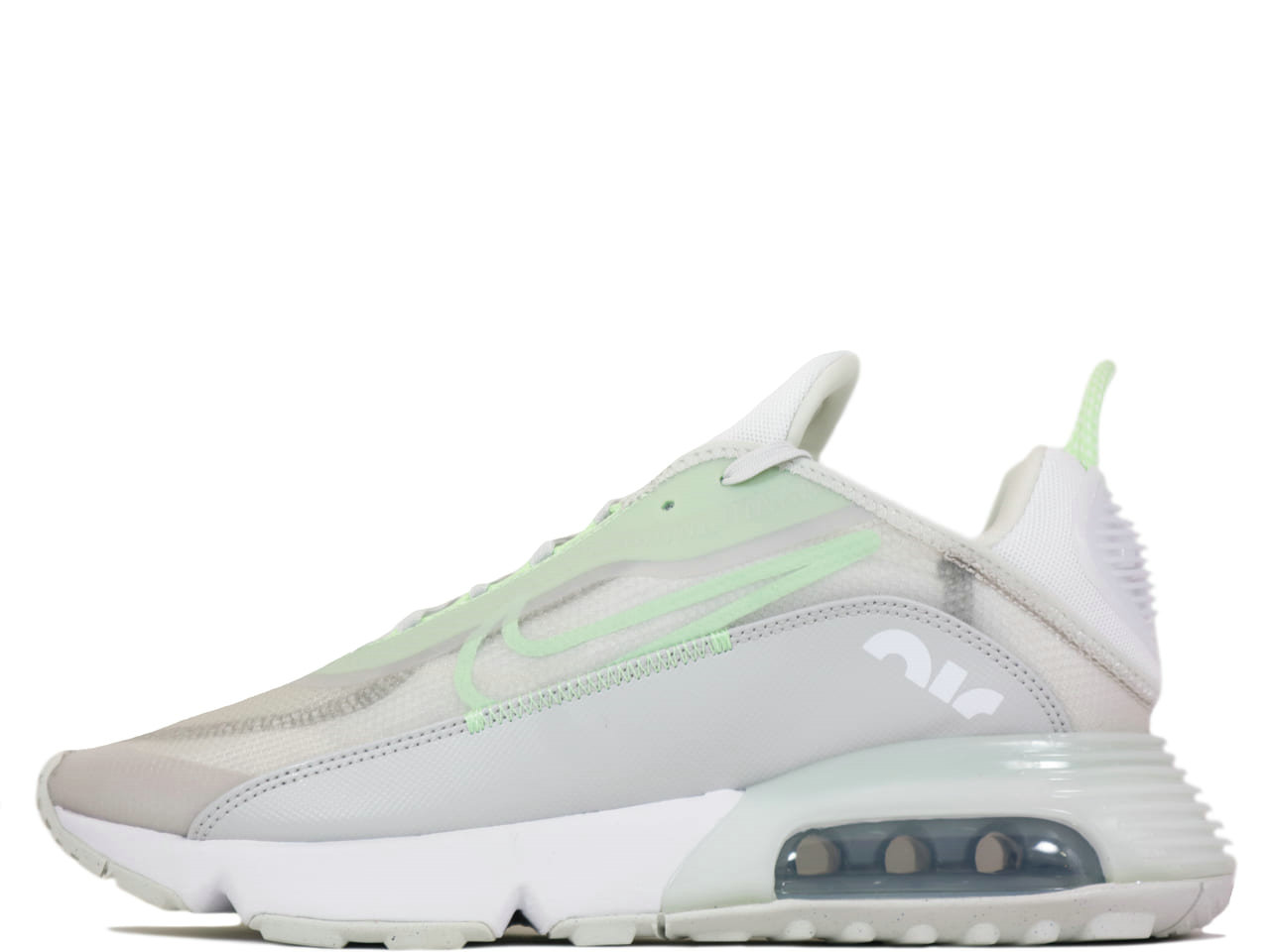 2021 Where To Buy Cheap Wholesale Womens Nike Air Max 2090 Vast Grey Vapor Green-Flat Pewter-White CT1091-001