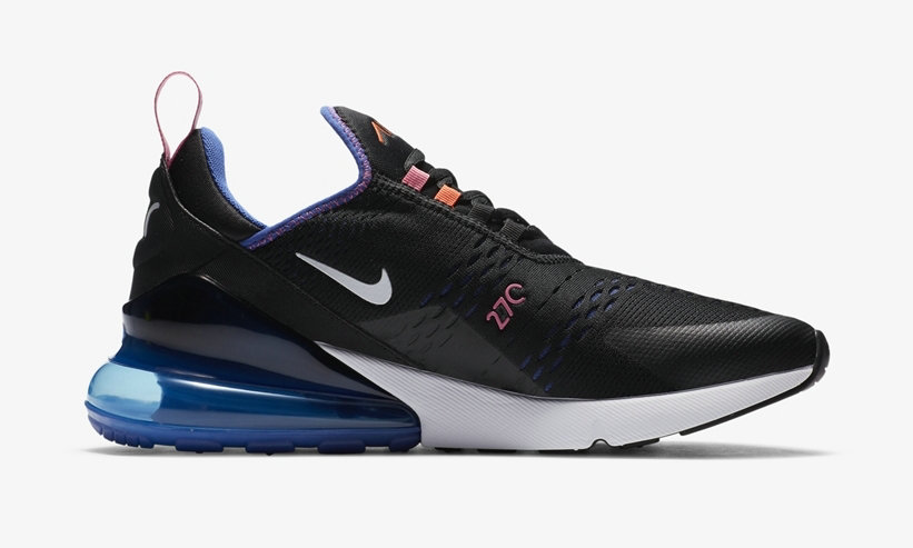 2021 Where To Buy Cheap Wholesale Womens Nike Air Max 270 Black Astronomy Blue DC1858-001