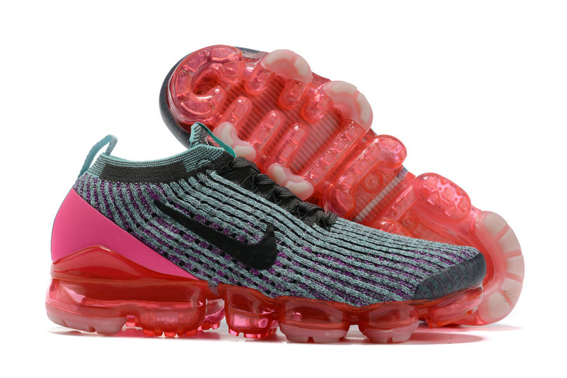 2021 Where To Buy Cheap Wholesale Womens Nike Air VaporMax Flyknit 3.0 Grey Black Pink Red