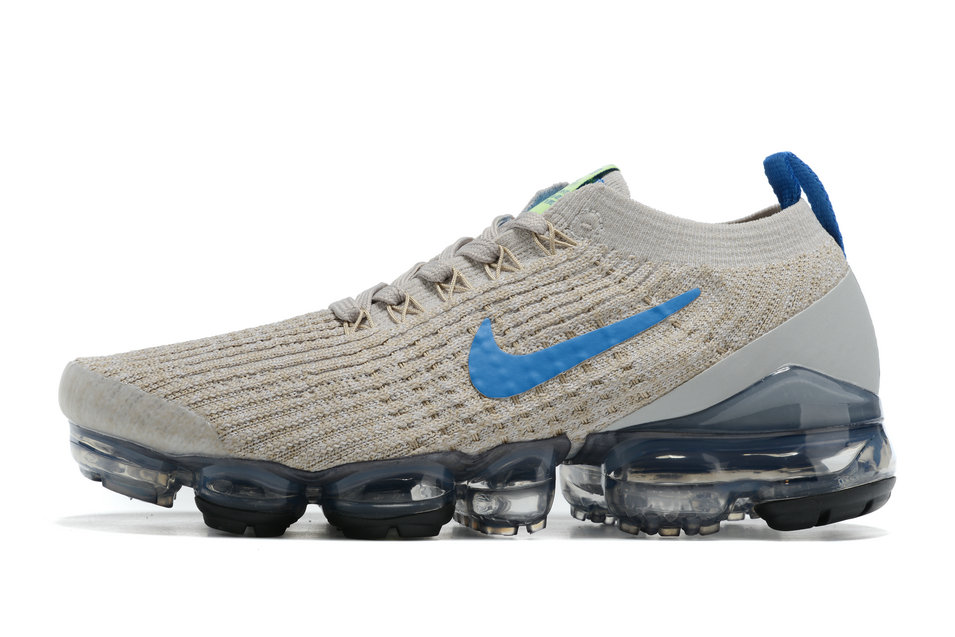 2021 Where To Buy Cheap Wholesale Womens Nike Air VaporMax Flyknit 3.0 Wolf Grey Blue