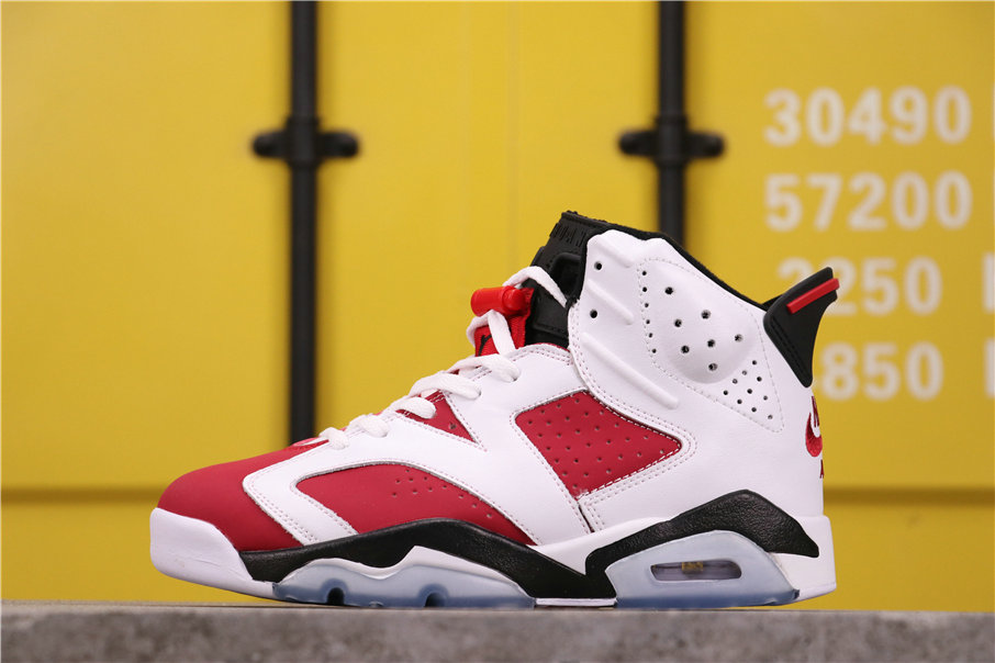 2021 Where To Buy Womens Cheap Air Jordan 6 Retro Carmine White Carmine-Black 384664-160