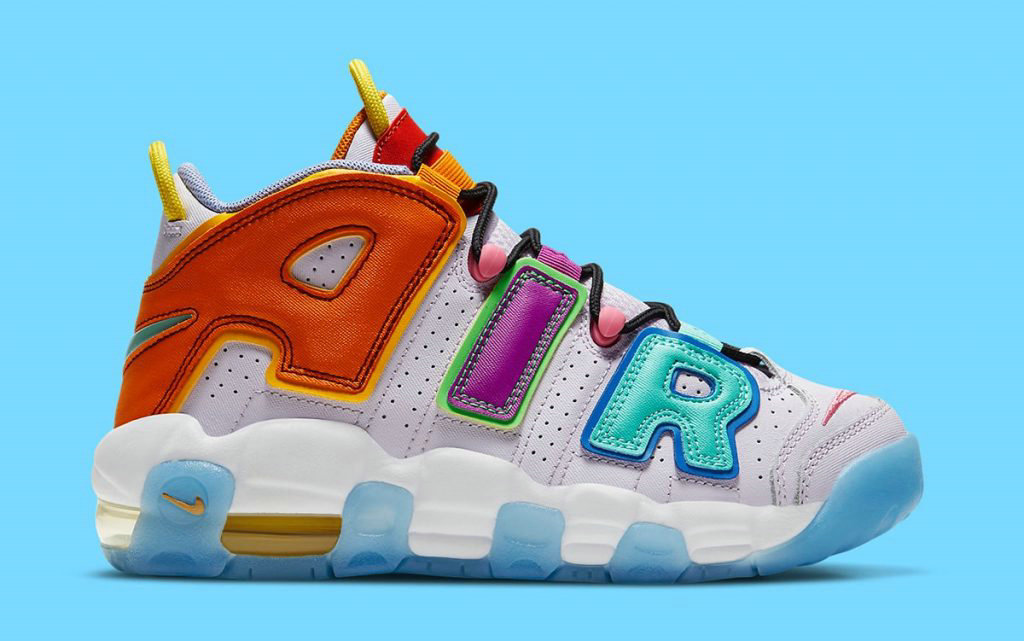 2021 Where To Buy Womens Cheap Nike Air More Uptempo Mix-n-Match Barely Grape Opti Yellow Vivid Purple Orange Peel DH0624-500