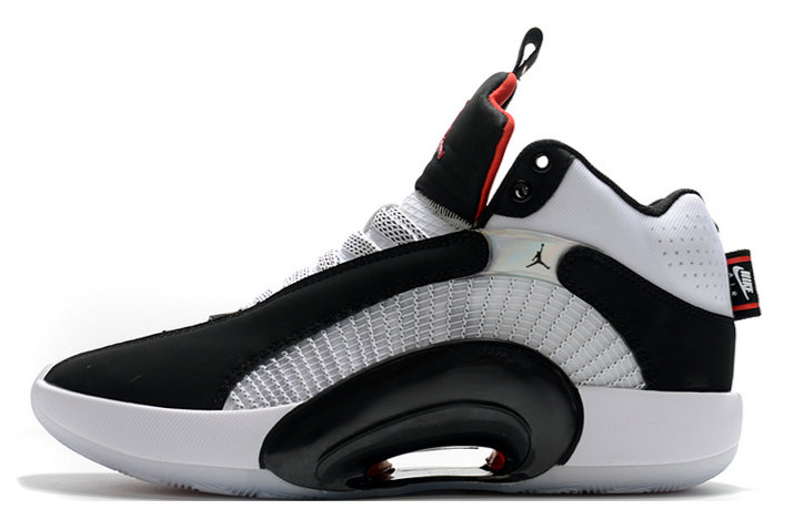 2021 Womens Cheap Wholesale Nike Air Jordan 35 DNA Black White-Fire Red