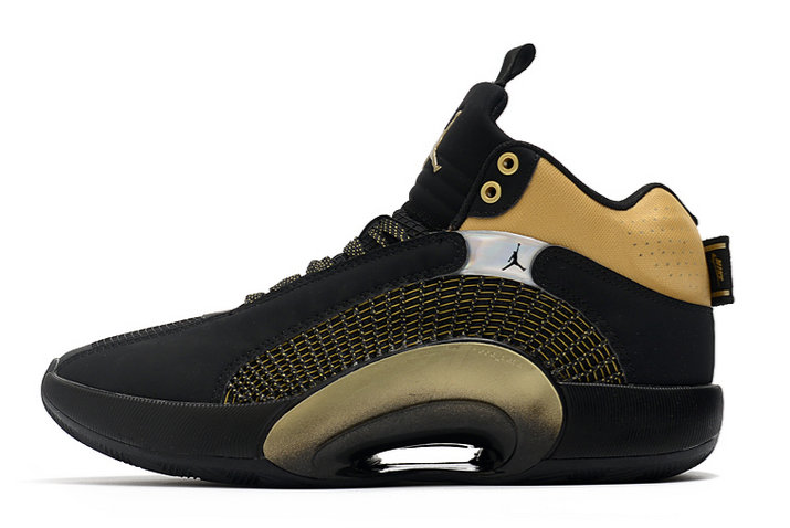 2021 Womens Cheap Wholesale Nike Air Jordan 35 XXXV Black Metallic Gold