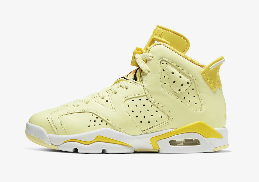 2021 Womens Cheap Wholesale Nike Air Jordan 6 Crimson Tint Dynamic Yellow-Black-White 543390-800