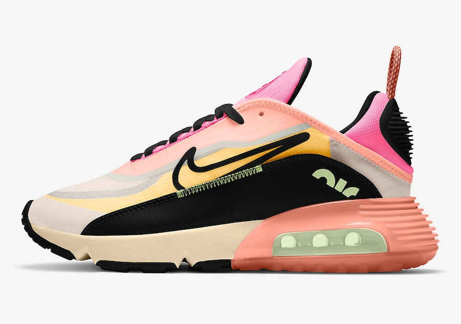 2021 Womens Cheap Wholesale Nike Air Max 2090 Neon Highlighter Barely Volt Atomic Pink-Pink Glow-Black CT1290-700