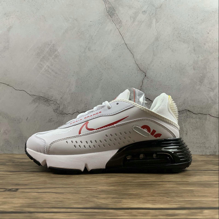 2021 Womens Cheap Wholesale Nike Air Max 2090 Neymar Jr White University Red Blanc Universite Rouge CU9371-104