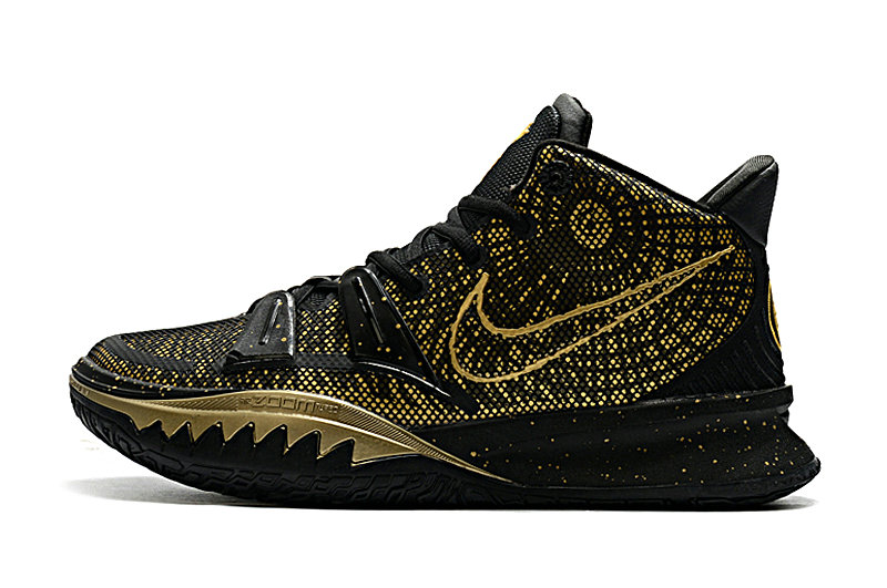 2021 Womens Cheap Wholesale Nike Kyrie Irving 7 Gold Black