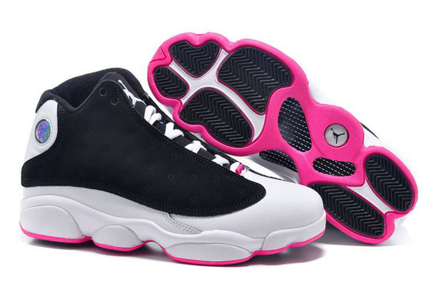 Air Jordan 13 Retro Black Pink White Cheap Wholesale Womens