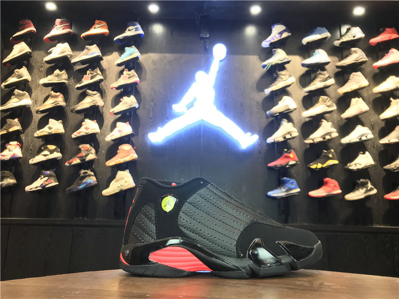 2018 Cheap Wholesale Air Jordan 14 Red Grey Black 311832-010