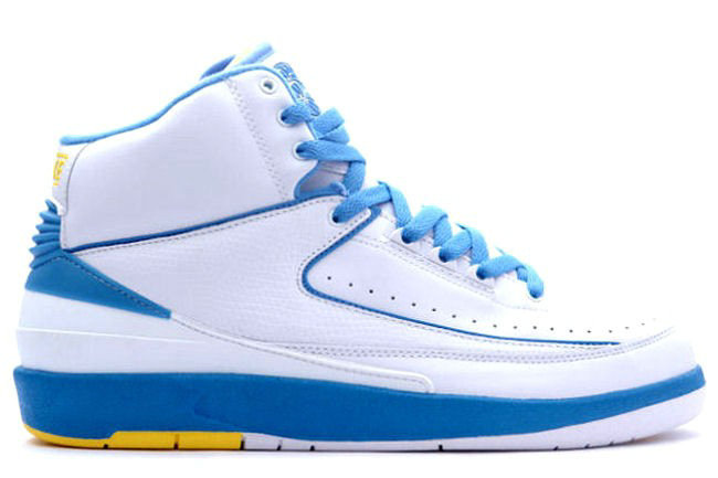 Air Jordan 2 Retro White Blue Yellow
