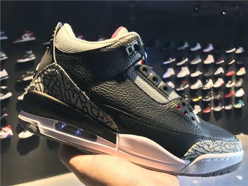 982d9f998f1a1f 2018 Cheap Wholesale Air Jordan 3 OG Black Cement 854262-001 - China ...