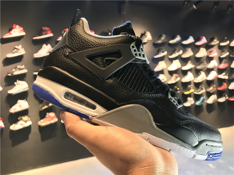 2018 Cheap Wholesale Air Jordan 4 Black White 308497-006